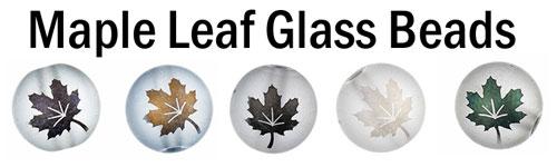 Maple Leaf Glass Beads